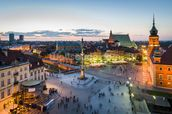 Warsaw Old Town Sunset wallpaper mural thumbnail