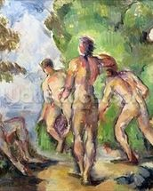 Bathers, c.1892-94 (oil on canvas) mural wallpaper thumbnail