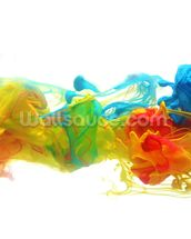 Colourful Ink in Water wall mural thumbnail