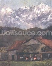 A Hut in the Mountains wall mural thumbnail