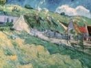 Cottages at Auvers-sur-Oise, 1890 (oil on canvas) wall mural thumbnail