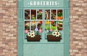 Groceries mural wallpaper thumbnail