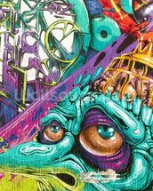 Graffiti - Creature wall mural thumbnail
