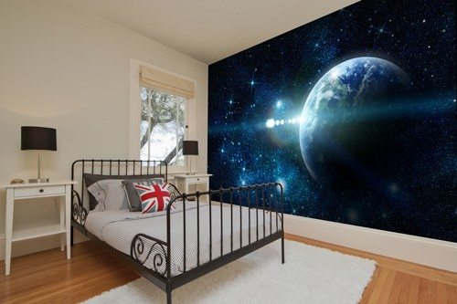 Top 10 bedroom wall murals wallsauce usa for Space wallpaper bedroom