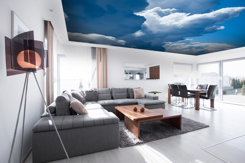 Cloudy Sky Ceiling Wall Mural
