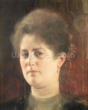 Portrait of a lady wall mural thumbnail