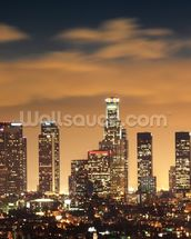 Los Angeles Skyline Sunset wall mural thumbnail