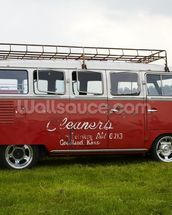 VW Camper Red wall mural thumbnail