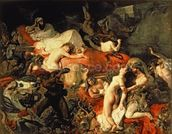 The Death of Sardanapalus, 1827 (oil on canvas) wallpaper mural thumbnail