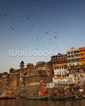 River Ganges, Varanasi mural wallpaper thumbnail