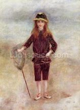 The Little Fisherwoman (Marthe Berard) 1879 (oil on canvas) wall mural thumbnail