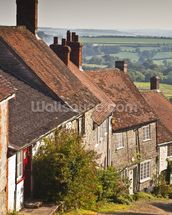 Gold Hill in Shaftesbury, Dorset wallpaper mural thumbnail