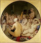 The Turkish Bath, 1863 (oil on canvas) (see also 429034) wallpaper mural thumbnail