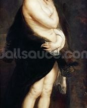 Helena Fourment in a Fur Wrap, 1636-38 wall mural thumbnail