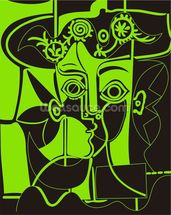 Picasso - Green mural wallpaper thumbnail