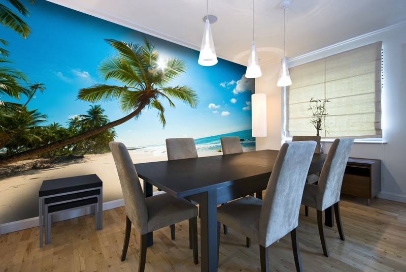 Beach-Wall-Mural-in-Dining-Room