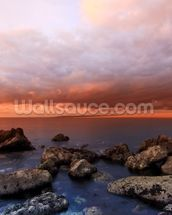 The Cove Sunset wall mural thumbnail