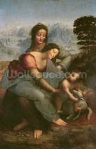 Virgin and Child with St. Anne, c.1510 (oil on panel) wallpaper mural thumbnail