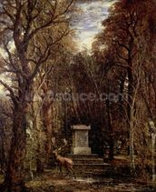 The Cenotaph to Reynolds Memory, Coleorton, c.1833 (oil on canvas) mural wallpaper thumbnail