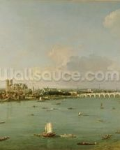 View of the Thames from South of the River mural wallpaper thumbnail