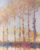 Poplars on the Banks of the Epte, 1891 (oil on canvas) mural wallpaper thumbnail