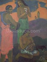 Maternity, or Three Women on the Seashore, 1899 (oil on canvas) mural wallpaper thumbnail