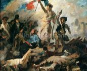 Study for Liberty Leading the People (oil on canvas) mural wallpaper thumbnail