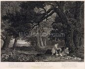 Shooting, plate 4, engraved by William Woollett (1735-85) 1771 (engraving with etching) wallpaper mural thumbnail