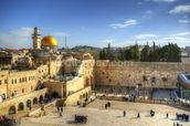 The Wailing Wall and Dome of the Rock, Jerusalem wall mural thumbnail