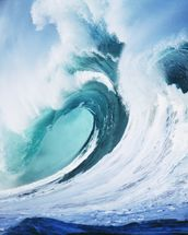 Stormy Ocean Wave Curling Over with Whitewash wallpaper mural thumbnail