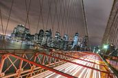 Manhattan Skyline from Brooklyn Bridge wall mural thumbnail