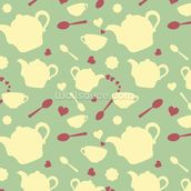 Tea time mural wallpaper thumbnail