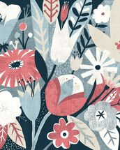 Vintage Bouquet Pink mural wallpaper thumbnail