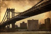 Brooklyn Bridge Sepia wallpaper mural thumbnail