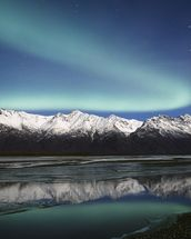 Northern Lights Over Chugach Mountains wallpaper mural thumbnail