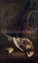 Still Life with a Pheasant, c.1861 (oil on canvas) wall mural thumbnail