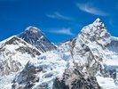 Everest and Lhotse mountain peaks view from Kala Pattar, Nepal wall mural thumbnail
