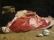 Still Life, the Joint of Meat, 1864 (oil on canvas) wallpaper mural thumbnail