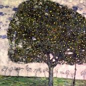 The Apple Tree II, 1916 (oil on canvas) mural wallpaper thumbnail