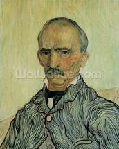 Portrait of Superintendant Trabuc in St. Pauls Hospital, 1889 (oil on canvas) mural wallpaper thumbnail