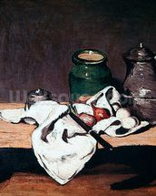 Still life with a tin kettle, 1869 (oil on canvas) mural wallpaper thumbnail