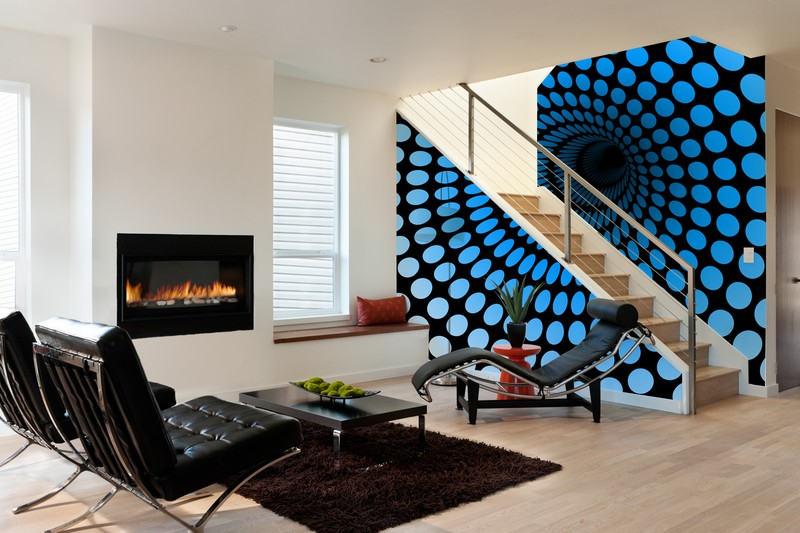 Abstract Tunnel Wall Mural