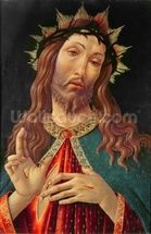 Ecce Homo, or The Redeemer, c.1474 (tempera on panel) wall mural thumbnail