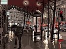 Paris at night wall mural thumbnail