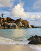 British Virgin Islands, Virgin Gorda, Tropical Beach Seascape mural wallpaper thumbnail