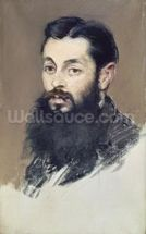 Dr. Materne, doctor of Napoleon III (1808-73) c.1880-81 (pastel on canvas) wallpaper mural thumbnail