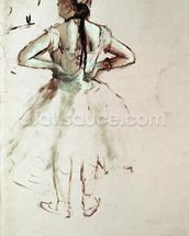 Dancer viewed from the back wall mural thumbnail