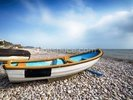Boats at Budleigh Salterton wall mural thumbnail