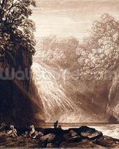 The Fall of the Clyde, engraved by Charles Turner (1773-1857), 1859-60 (etching and engraving) mural wallpaper thumbnail