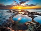 Maori Bay Rock Pools wall mural thumbnail